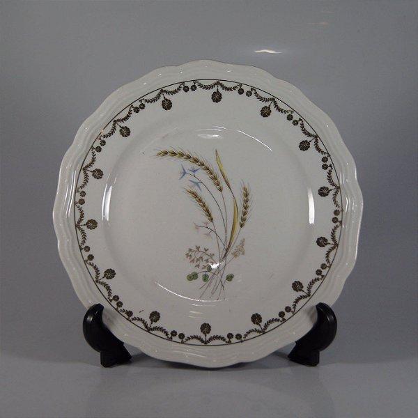 Prato em Porcelana Steatita Decorado em Trigo