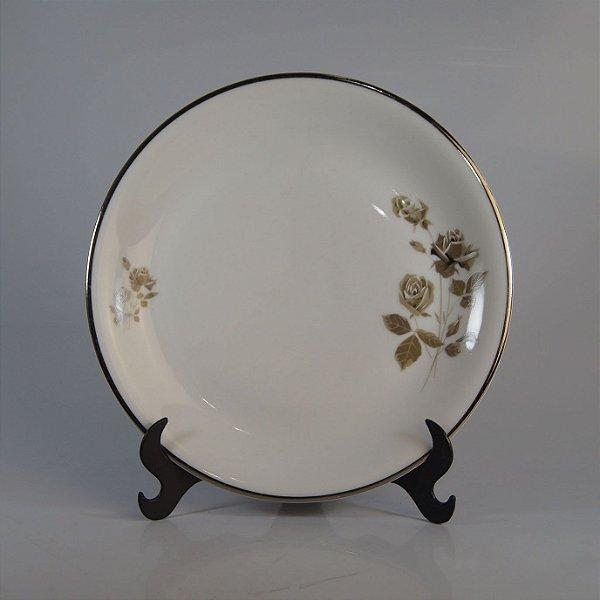 Prato em Porcelana Renner Decorado em Flores