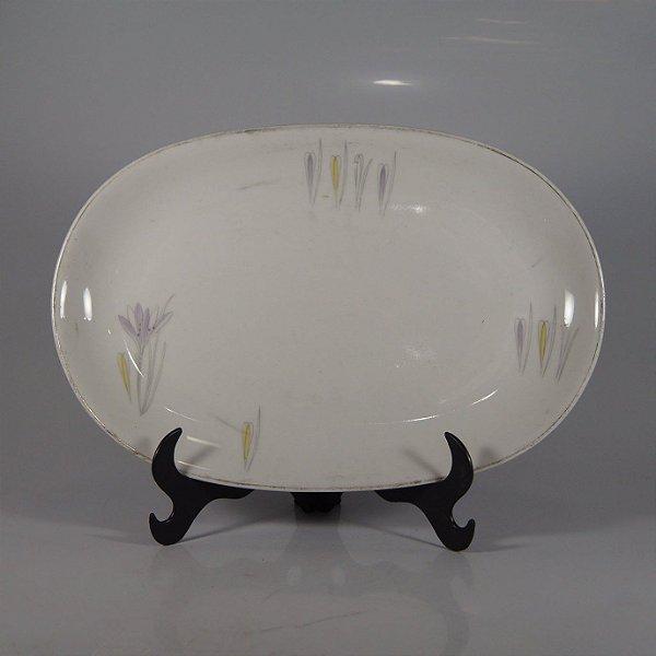 Travessa em Porcelana Renner Decorada Floral