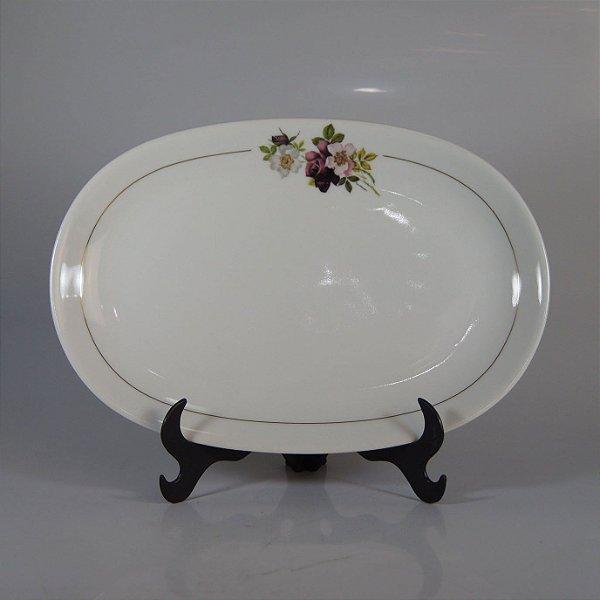 Travessa em Porcelana Renner Decorada em Flores