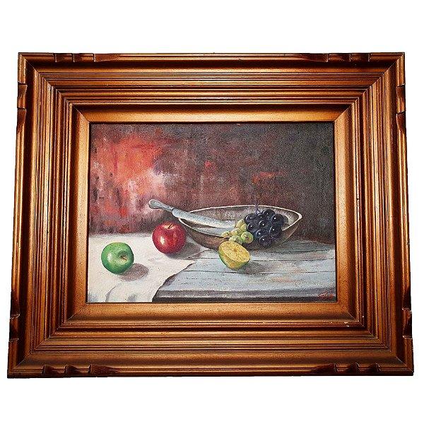 Quadro Pintura a Óleo Paisagem Morta 36x49cm