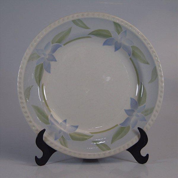 Prato em Porcelana Oxford Decorado em Flores