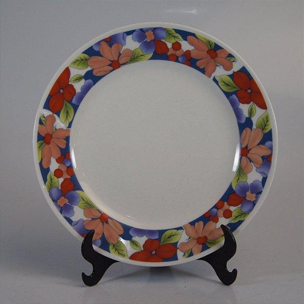 Prato de Sobremesa em Porcelana Fine Porcelain Floral