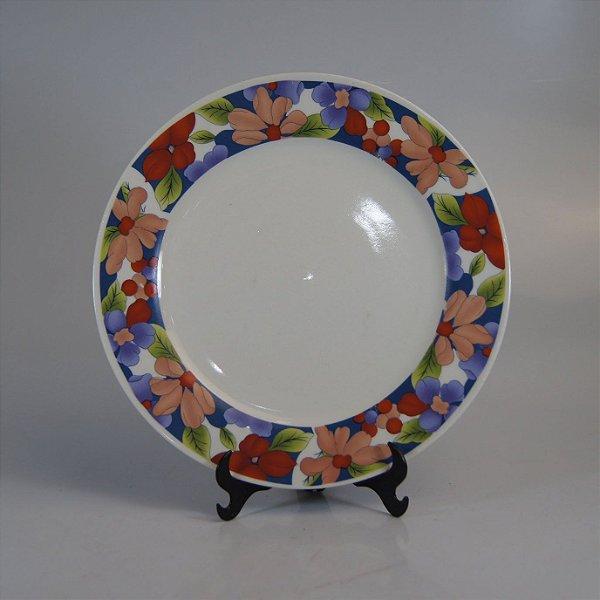 Prato em Porcelana Fine Porcelain Floral