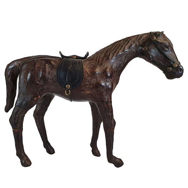 Escultura Cavalo Em Madeira Coberta Com Couro Origem Istambu