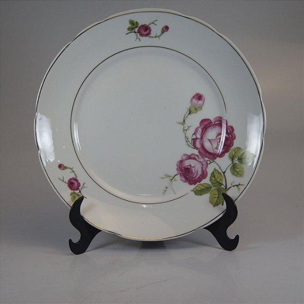 Prato em Porcelana Real Decorado Floral