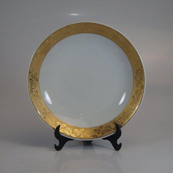 Prato em Porcelana Steatita Decorado