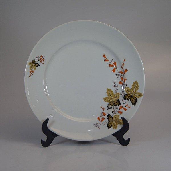 Prato em Porcelana Real Decorado em Flores