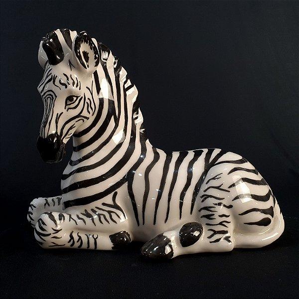 Zebra Em Cerâmica Decoração Para Sala de Estar