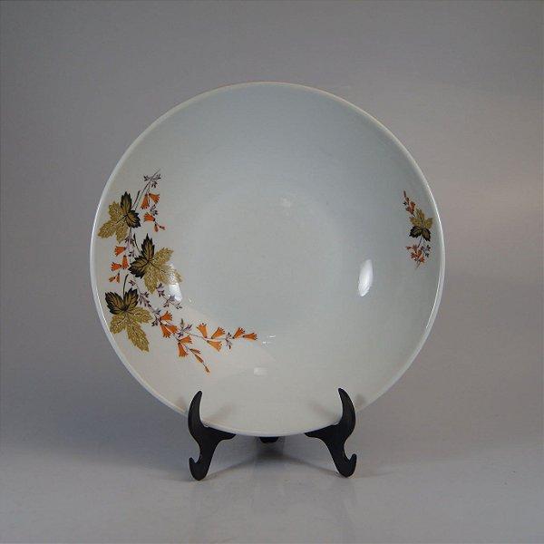 Saladeira em Porcelana Real Decorada em Floral