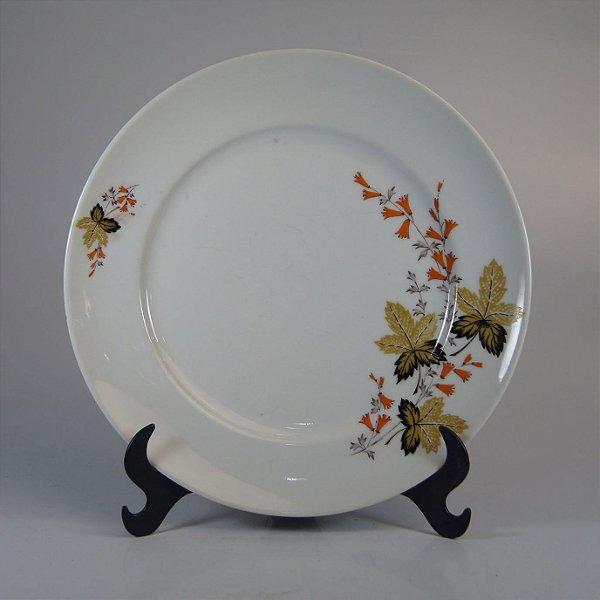Prato em Porcelana Real Decorado em Floral