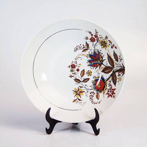 Saladeira em Porcelana Steatita Decorada em Floral
