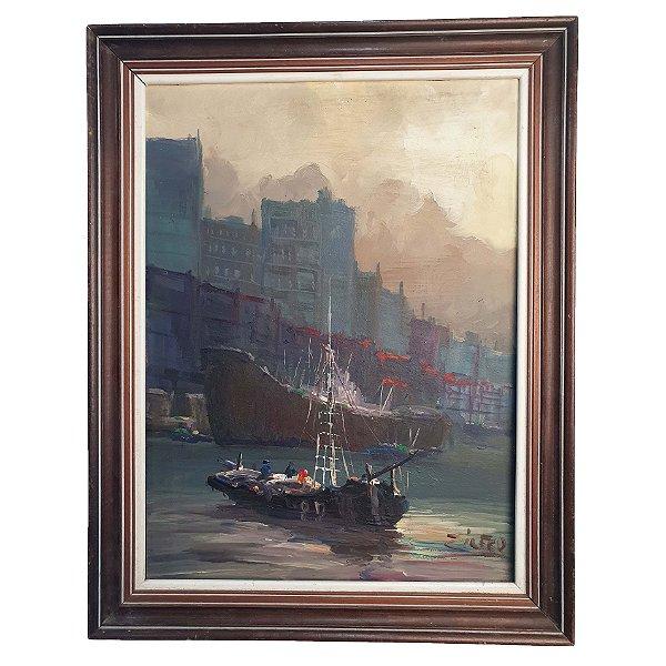 Pintura A Óleo Marinha - Zilfer 54x40cm