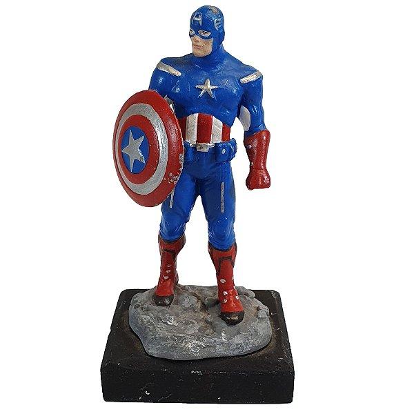Boneco Miniatura Coleção Marvel Capitão América