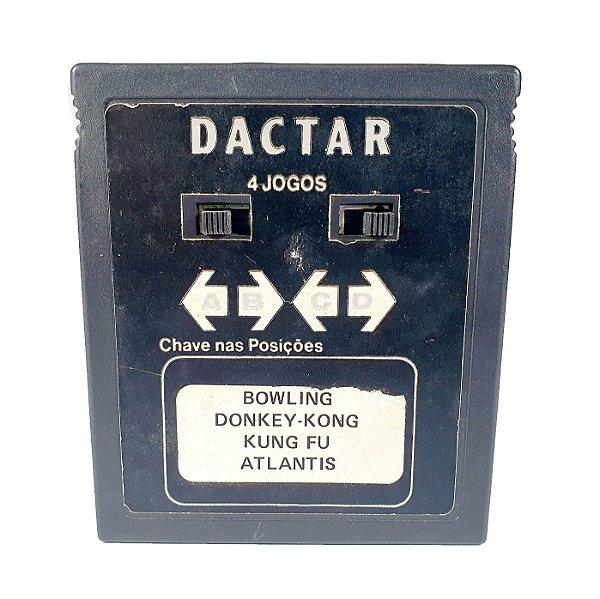 Cartucho Jogo Atari Bowling / Donkey-Kong / Kung-Fu / Atlant