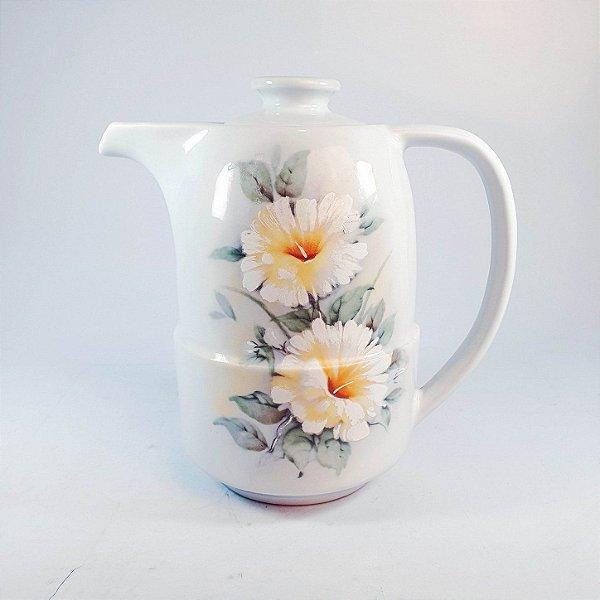Bule Para Café em Porcelana Pozzani Pintado a Mão