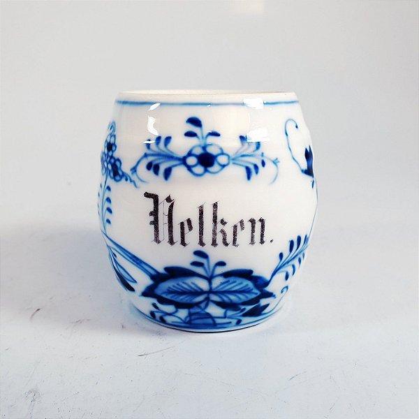 Pote em Porcelana Helken Alemão Desenhos a Mão