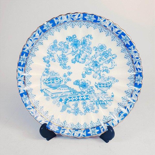 Pires em Porcelana China Blau Linha Dourada
