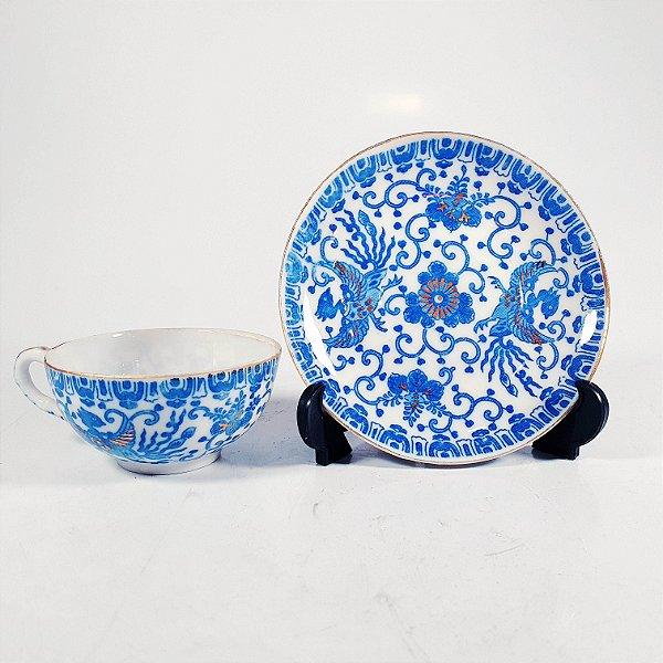 Xícara Casca de Ovo em Porcelana Japonesa