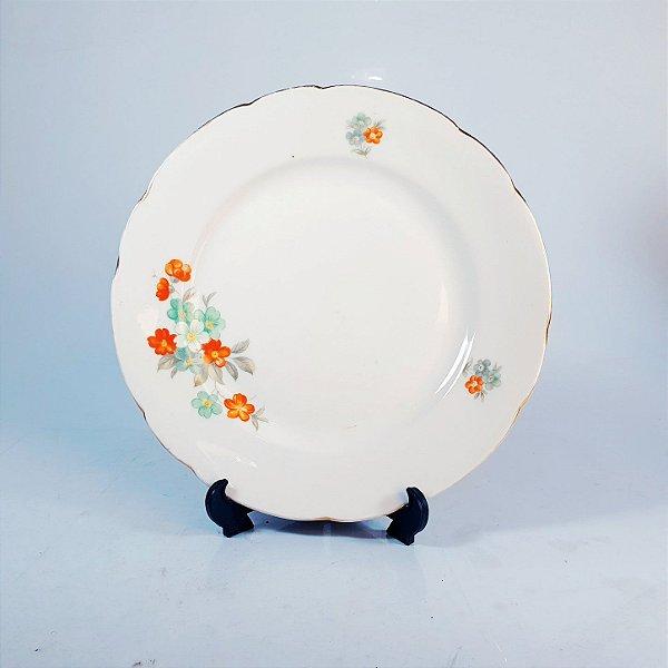 Prato de Sobremesa em Porcelana Theco Floral
