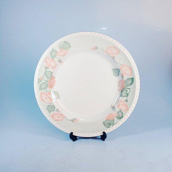 Prato Raso em Porcelana Oxford Floral