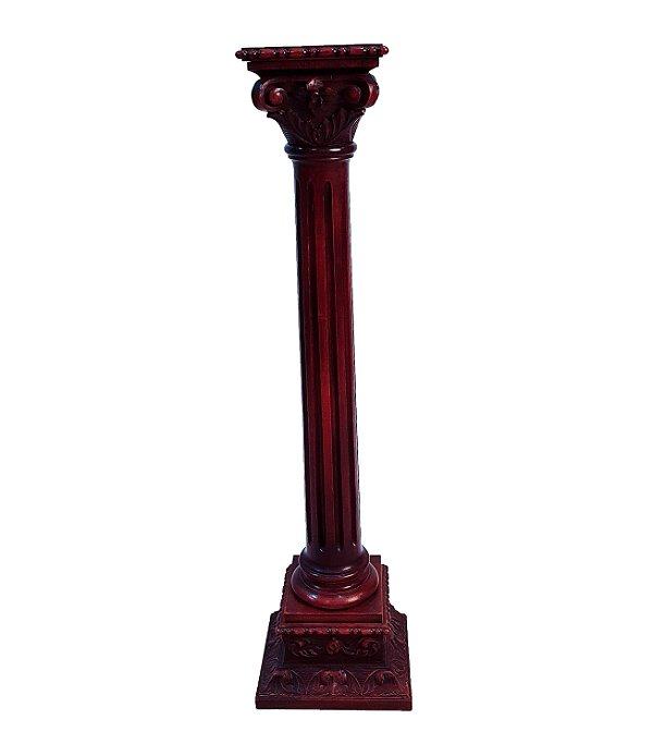 Coluna Floreira Art Nouveau Em Madeira de Imbuia
