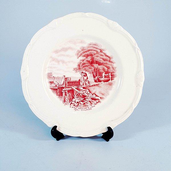 Prato Decorativo em Porcelana Grindley England Bote