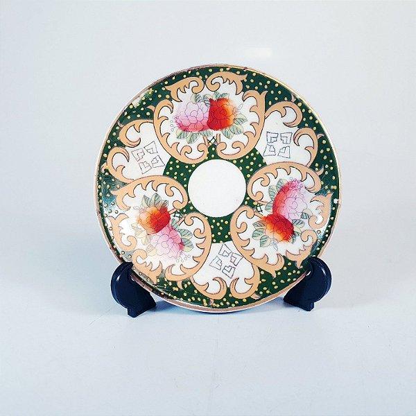 Mini Prato Decorativo em Porcelana Santin Floral
