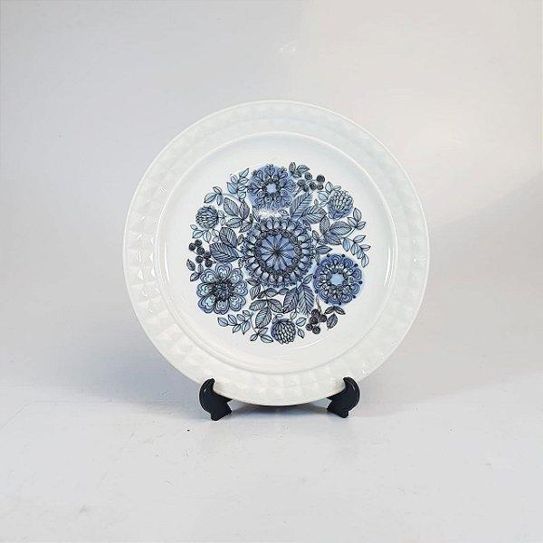 Prato Decorativo em Porcelana Pontesa Floral