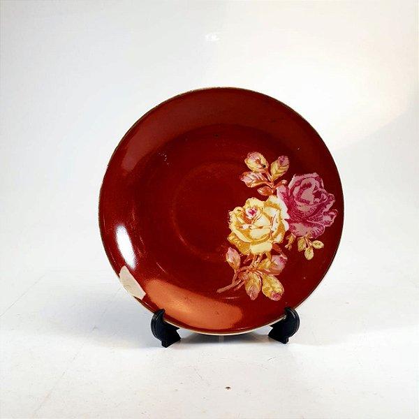Prato Decorativo em Porcelana Floral