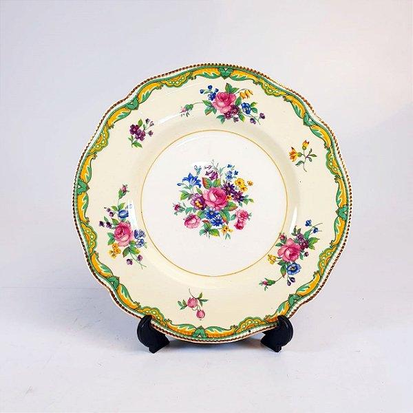 Prato Decorativo em Porcelana Johnson Bros Floral