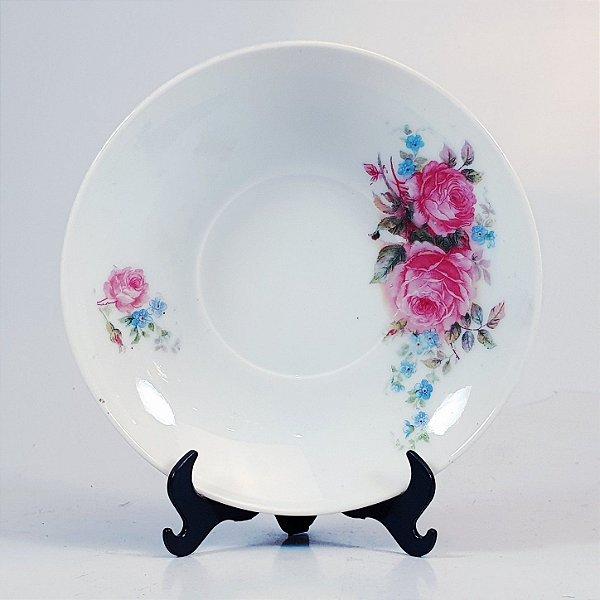 Prato Decorativo em Porcelana MZ Floral