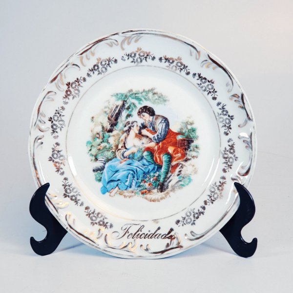 Prato de Sobremesa em Porcelana Schmidt Casal