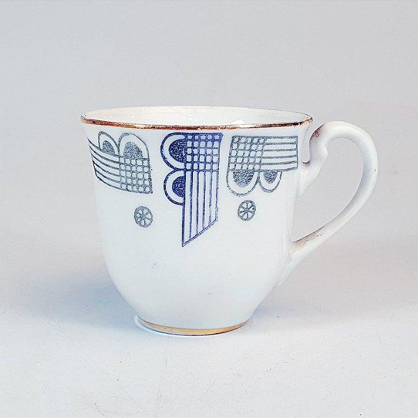 Xicara para Café em Porcelana Steatita Decorada