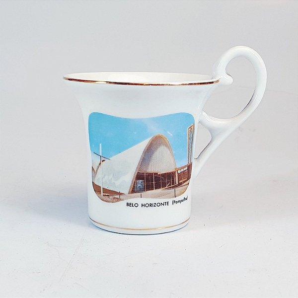 Xicara para Café em Porcelana Polovi Decorada
