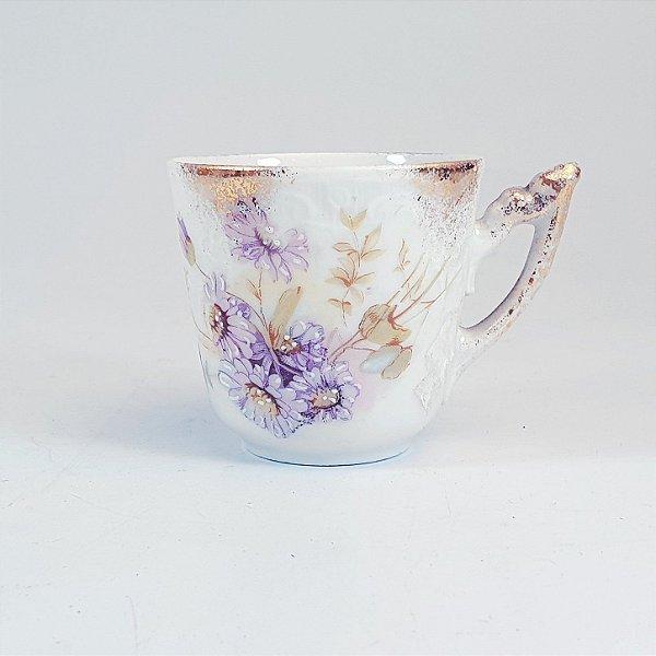 Xicara para Café em Porcelana Epiag Floral