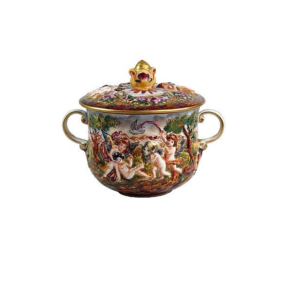 Consomé Em Porcelana Capodimonte Italiana
