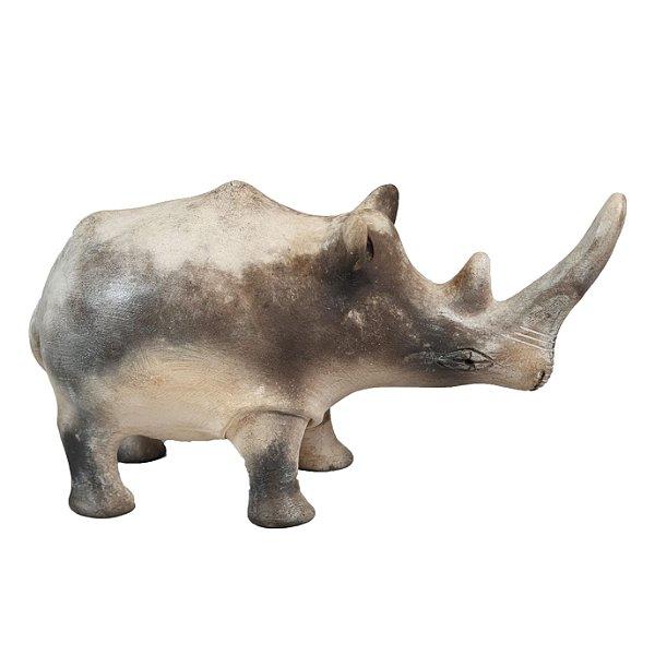 Enfeite Rinoceronte Em Cerâmica Arte Africana Por Nkosikho