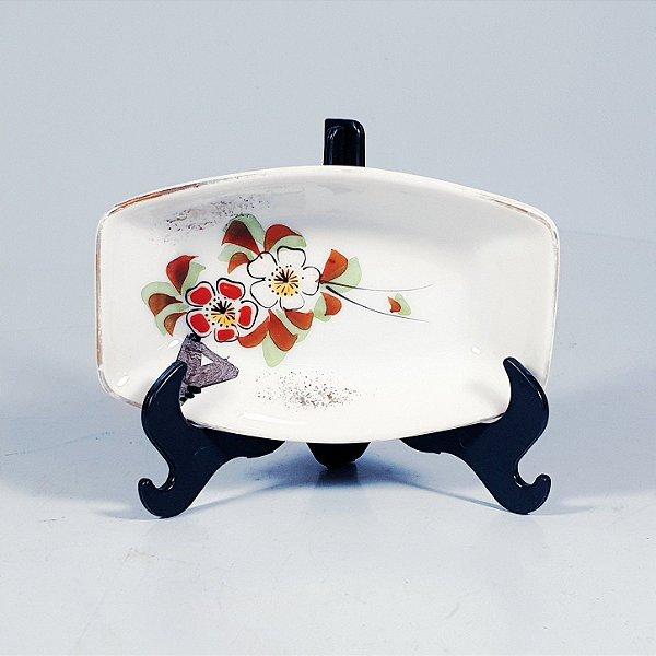 Mini Travessa em Porcelana Japonesa Floral
