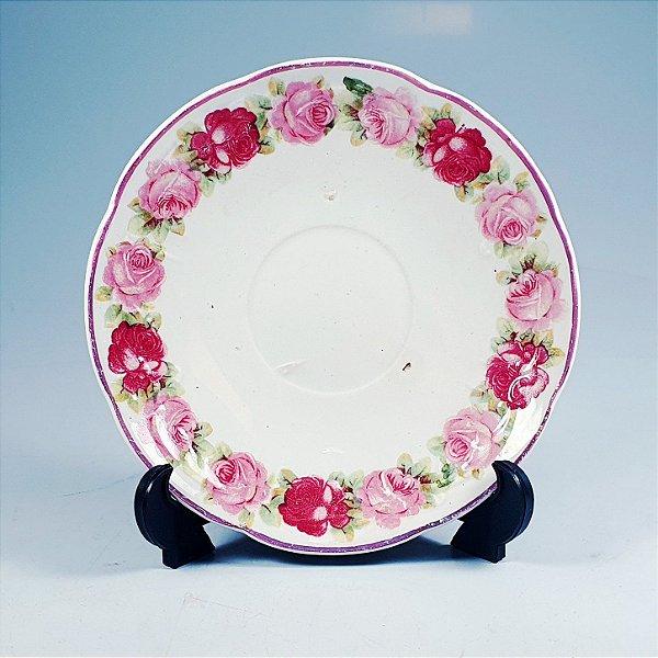 Prato Decorativo em Porcelana Société Céramique Floral