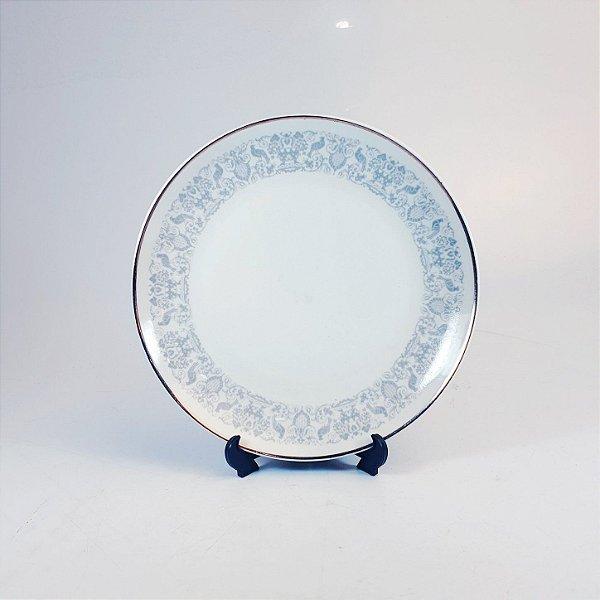 Prato de Sobremesa em Porcelana Steatita Decorado