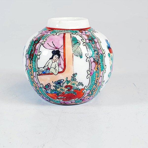 Mini Pote Decorativo em Porcelana Chinesa Pintado a Mão