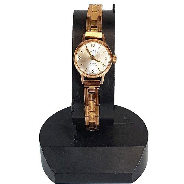 Relógio de Pulso Technos Incabloc Plaque de Ouro Rose