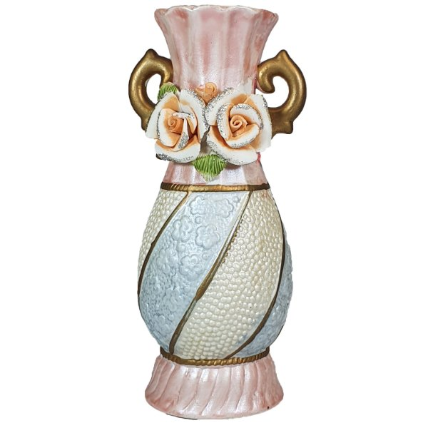 Vaso solitário Em Cerâmica Pintado a Mão