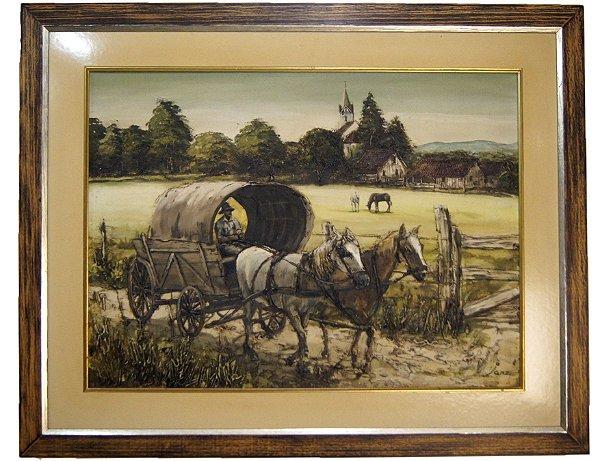 Quadro Pintura a Óleo - Raul W. Janz 76x95cm