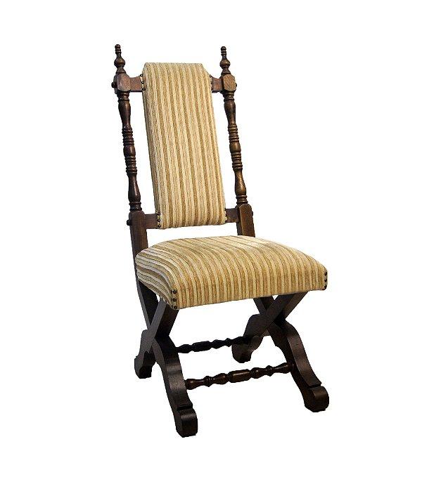 Conjunto de 8 Cadeiras Para Mesa de Jantar Estilo Colonial