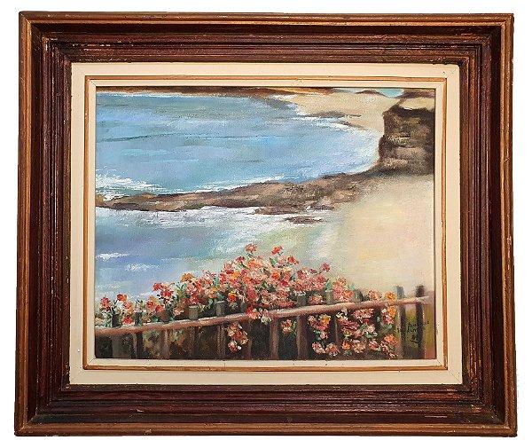 Quadro Pintura a Óleo - Suzana D. Almeida 1989 (67 x 57)