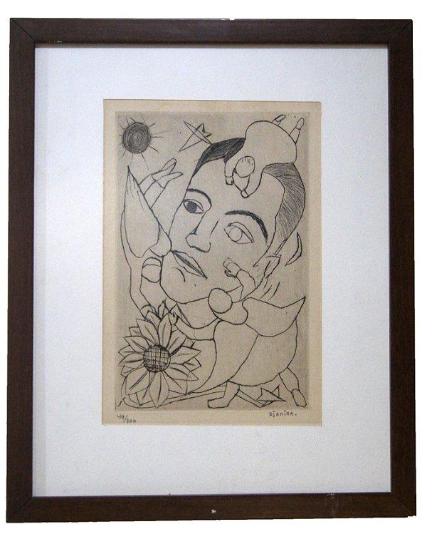 Quadro Gravura Retrato De Um Amigo - Djanira 49º/200