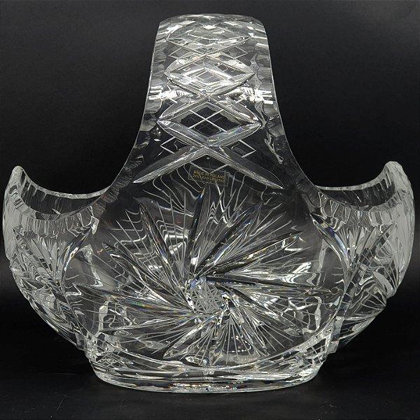 Cesto Vaso Em Cristal Tcheco Lapidado