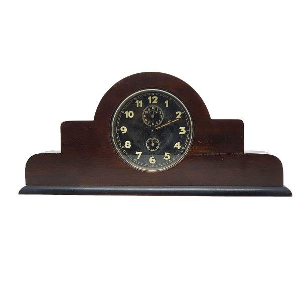 Relógio de Mesa Rex Estilo Art Deco Em Madeira